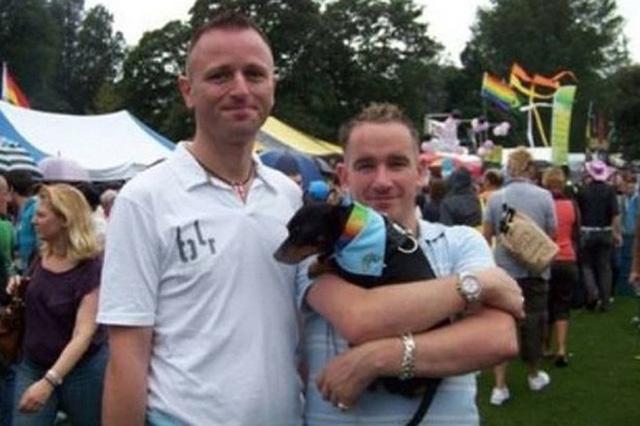 George Michael Somers (trái) thiệt mạng trong đám cháy xảy ra vào ngày đầu năm, chỉ vài giờ sau khi anh cầu hôn bạn trai đồng tính. Ảnh: