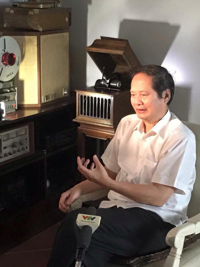 Nhạc sỹ An Thuyên trong một lần trả lời phỏng vấn của VTV về nhạc Trịnh.