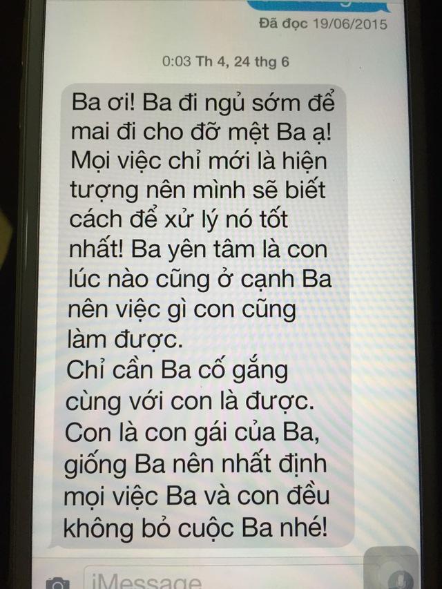 Tin nhắn cuối cùng của Bông Mai gửi đến ba An Thuyên.