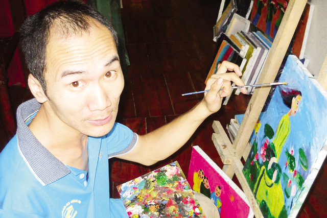 Họa sĩ Lê Quang Lĩnh (ảnh nhân vật cung cấp).