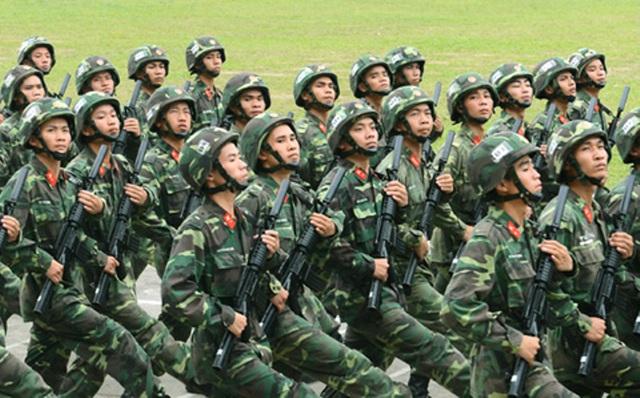 Hoạt động diễu binh với sự tham gia của các lực lượng vũ trang.