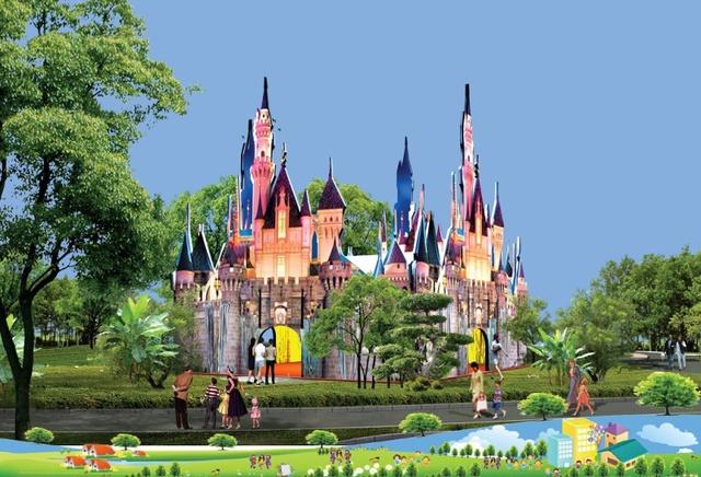 Những lâu đài trong cổ tích là sân chơi đặc biệt ấn tượng với trẻ thơ cũng có mặt tại ngày hội