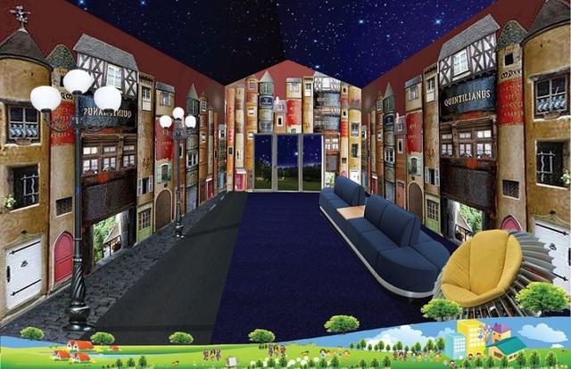Phối cảnh nội thất của khu Modul Books, ngoài việc trưng bày các loại sách giáo dục, nơi đây còn là nơi giới thiệu các tác phẩm của Nguyễn Nhật Ánh, Tô Hoài, Vũ Hùng... cùng các tác giả được thiếu nhi ưu thích