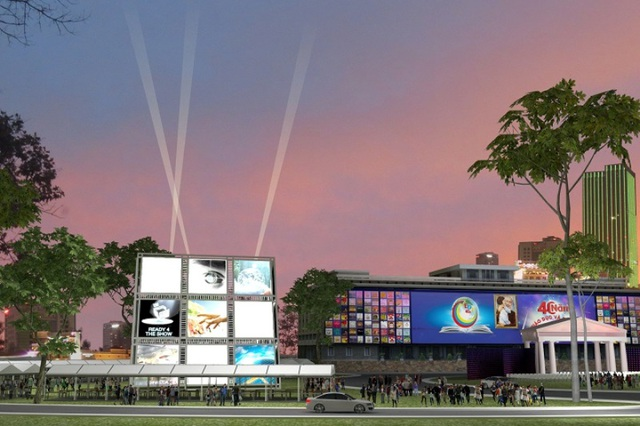 Khối bubik khổng lồ (20m x 20m x 20m) sẽ là không gian ấn tượng của khu công nghệ giáo dục, học đường...
