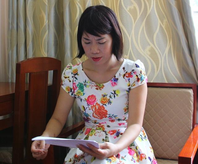 Chị Đào Thị Hồng Khuyên cảm thấy bất lực vì khoản tiền cho Mai Thị Anh vay