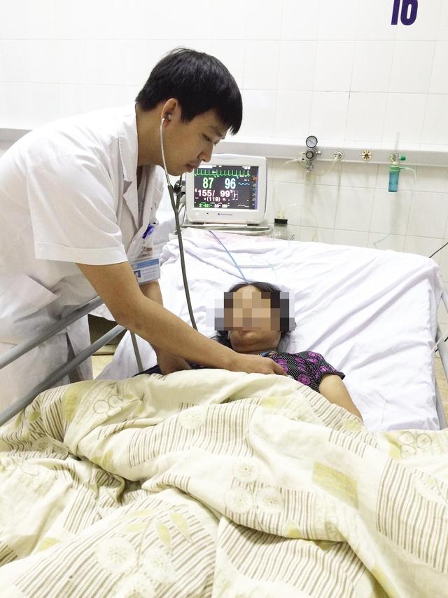 Bệnh nhân N được điều trị tại Bệnh viện Đa khoa Hà Đông. Ảnh: D.H