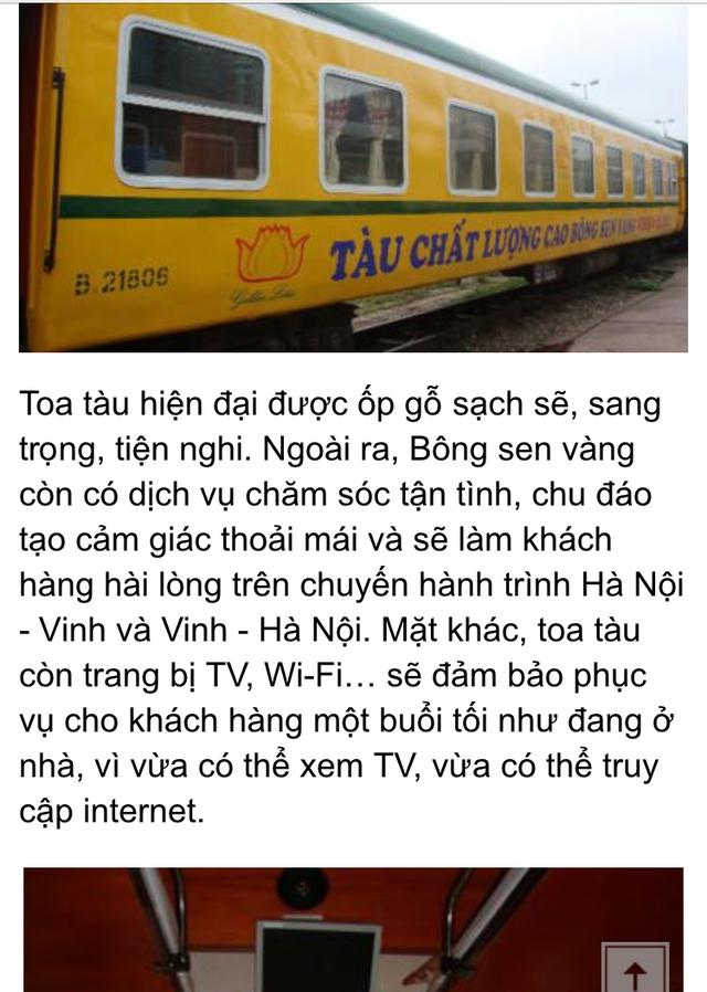 Dịch vụ tàu Bông sen vàng được quảng cáo ngút trời, nhưng thực tế trải nghiệm của hành khách tuyến Vinh – Hà Nội tối mùng 3 Tết lại không như vậy.