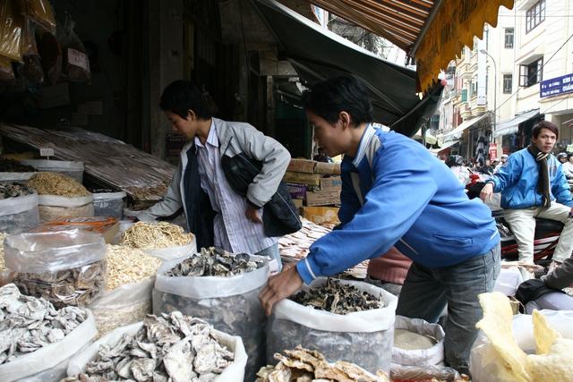 Mộc nhĩ, nấm hương là những nguyên liệu không thể thiếu trong bữa ăn ngày Tết. Ảnh: Chí Cường