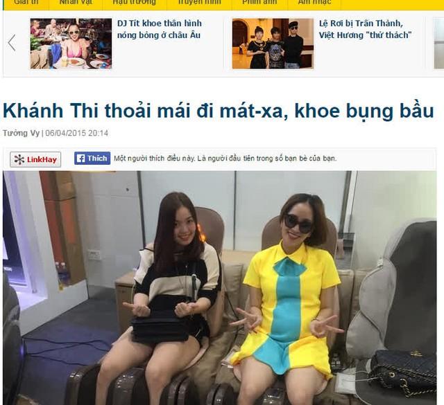 """Việc mang thai của Khánh Thi đang """"gây bão"""" dư luận. Ảnh:TL"""