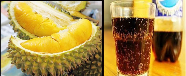 Ăn sầu riêng uống cùng coca không gây tử vong như tin đồn. Ảnh: P.T