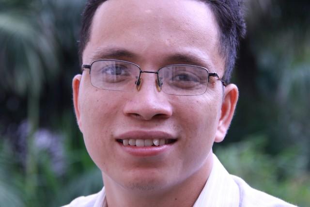 Nhà văn trẻ Nguyễn Văn Học. Ảnh: Lữ Mai