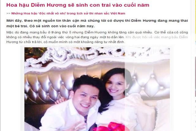 Dù vô tình hay cố ý thì việc tiết lộ giới tính thai nhi của Diễm Hương đã vi phạm chính sách DS-KHHGĐ. ẢNH:TL