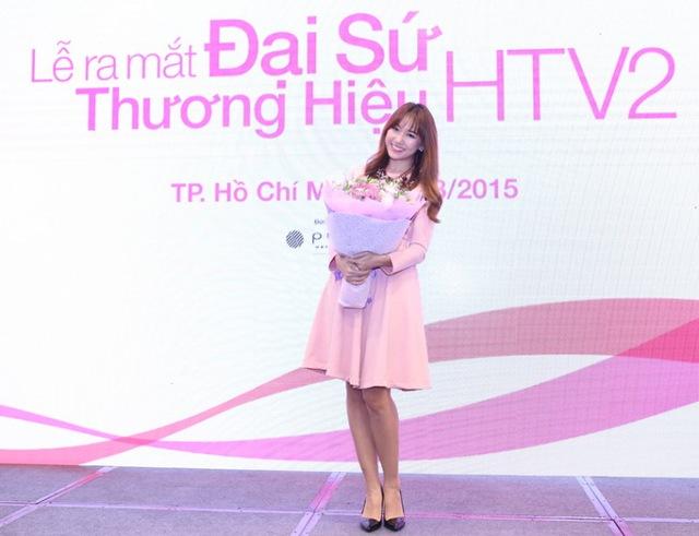 Cô gái dễ thương mang hai dong máu Việt-Hàn Hari Won đã nhận lời trở thành Đại sứ thương hiệu kênh truyền hình HTV2 từ ngày 11/8.