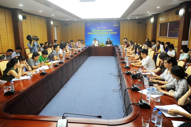 BTC giải Sao Mai họp báo công bố chương trình tại Hà Nội vào chiều 16/7.