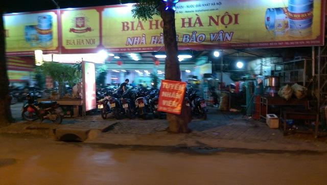 Nhà hàng Bảo Vân ở đường Trương Định (phường Giáp Bát, quận Hoàng Mai)