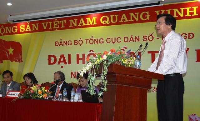 Đồng chí Lê Ngọc Chính – Phó Bí thư Đảng bộ Bộ Y tế đánh giá cao những kết quả đạt được của công tác DS-KHHGĐ trong thời gian qua