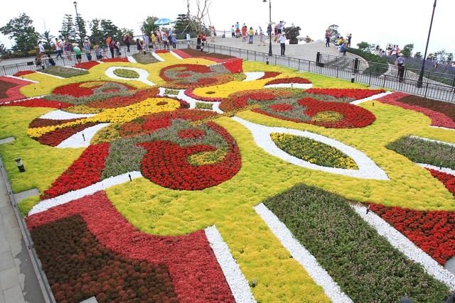 Khu Vườn hoa Tình Yêu (Jadin De L'Amour) với hàng trăm chủng loại hoa khoe sắc. Ảnh Đức Hoàng