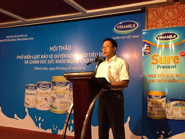 Ông Nguyễn Ngọc Thành -Giám đốc kinh doanh miền Trung 2, Vinamilk chia sẻ với người tiêu dùng những thông tin về công ty