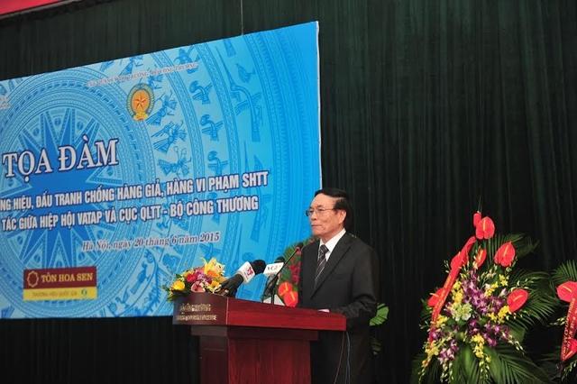 Ông Lê Thế Bảo- Chủ tịch Hiệp hội choogns hàng giả bảo vệ thương hiệu Việt Nam