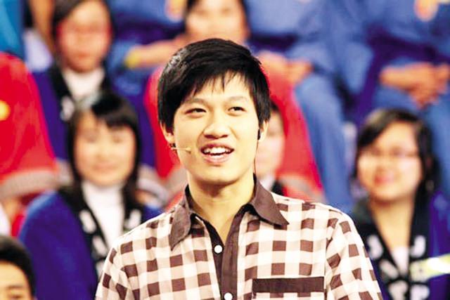 MC Trần Ngọc ở chương trình Đường lên đỉnh Olympia (Ảnh nhân vật cung cấp).