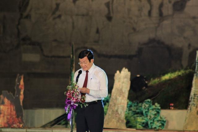 Đồng chí Trương Tấn Sang phát biểu tại buổi lễ