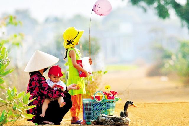 Tết quê. Ảnh: Nguyễn Công Phúc