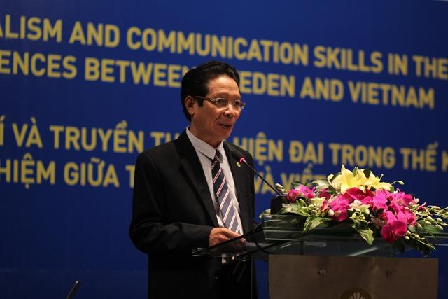 Thứ trưởng Bộ Thông tin & Truyền thông, Hoàng Vĩnh Bảo phát biểu tại chương trình. Ảnh: Đình Việt
