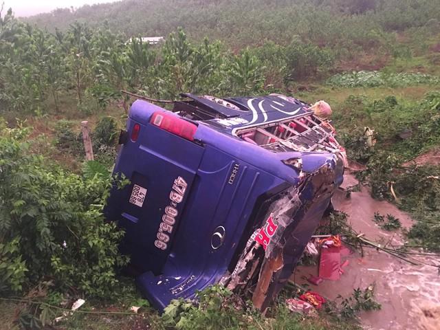 Hiện trường vụ tai nạn đặc biệt nghiêm trọng. Ảnh: CTV