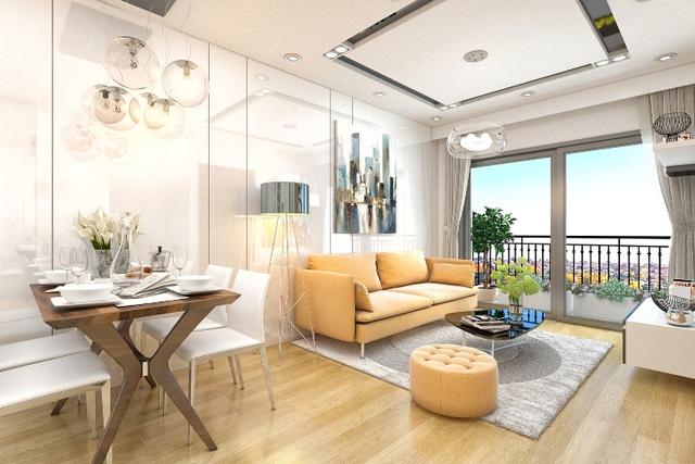 Căn hộ cao cấp được bố trí không gian linh hoạt trên một mặt phẳng với tiêu chuẩn hoàn thiện cao và trang thiết bị hiện đại (Ảnh minh họa phối cảnh một căn hộ tại A3 The Arcadia – Vinhomes Gardenia).