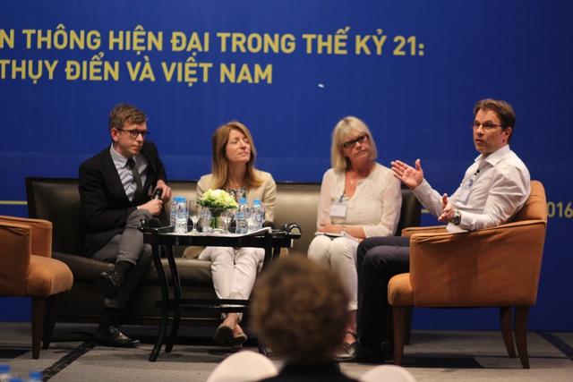 Các khách mời đến từ Thụy Điển. Ảnh: Đình Việt