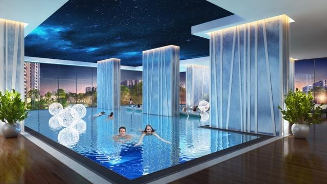 A3 The Arcadia là tòa căn hộ duy nhất tại dự án sở hữu bể bơi bốn mùa hiện đại.
