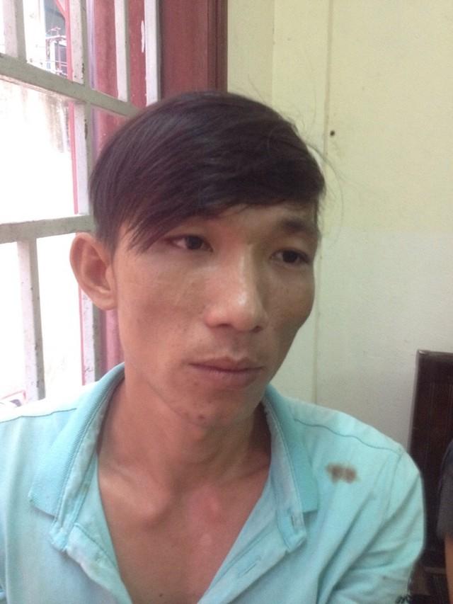 Nghi can giết dã man chị V. là Nguyễn Hoài Thanh tại cơ quan công an. Ảnh: C.A