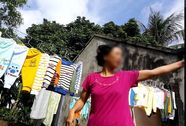 Bà N.T.H, một người dân xã Yên Lâm bày tỏ nỗi bức xúc của người dân nơi đây.