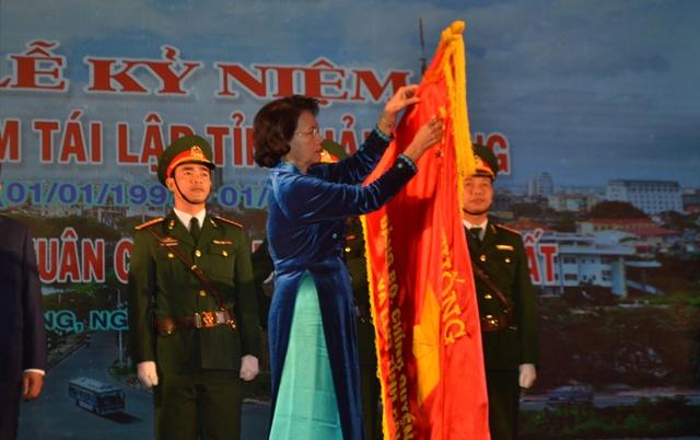 Chủ tịch QH Nguyễn Thị Kim Ngân trao Huân chương lao động hạng nhất cho tỉnh Hải Dương