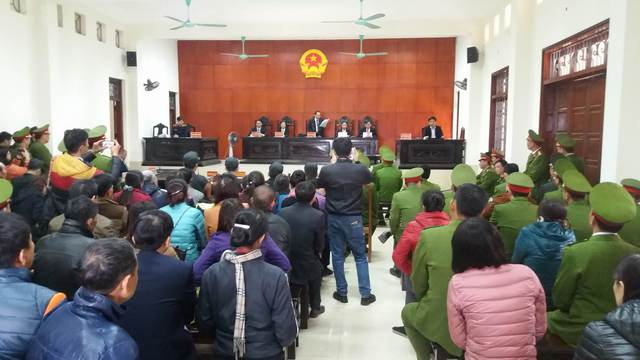 HĐXX TAND tỉnh Quảng Ninh đã tuyên nhầm hình phạt với bị cáo Doãn Trung Dũng ở tội danh Cướp tài sản. Ảnh: Đức Tùy