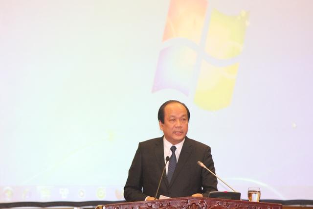 Người phát ngôn của Chính phủ, Bộ trưởng Mai Tiến Dũng khẳng định: Việc dừng dự án không làm ảnh hưởng đến quan hệ đối tác chiến lược toàn diện với Liên bang Nga và quan hệ đối tác sâu rộng với Nhật Bản. Ảnh TG