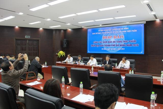 Đà Nẵng họp báo công tác đảm bảo ATTP trên địa bàn. Ảnh: Đức Hoàng