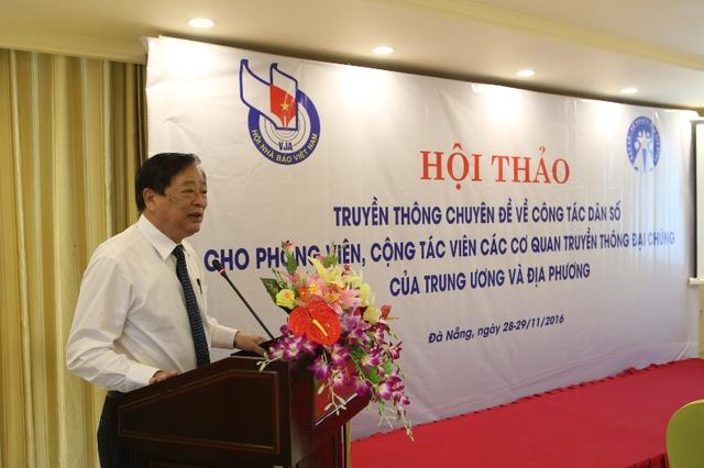 Ông Mai Đức Lộc, Phó Chủ tịch Hội Nhà báo Việt Nam phát biểu tại hội thảo. Ảnh: Đức Hoàng