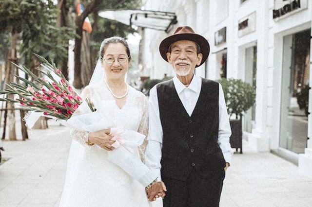 Vợ chồng nghệ sĩ Mai Ngọc Căn - Thanh Sơn trong bộ ảnh cưới gây chú ý. Ảnh: TL