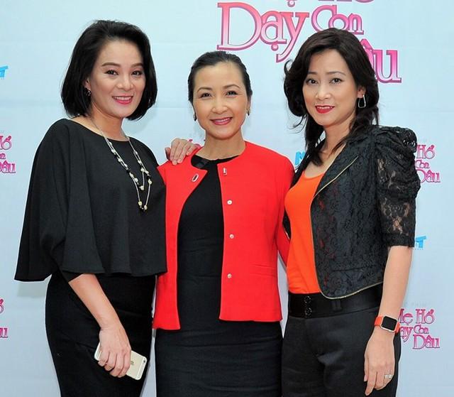Khánh Huyền hội ngộ với Tuyết Thu, Huỳnh Trang Nhi trong phim mới. Ảnh: M.T.