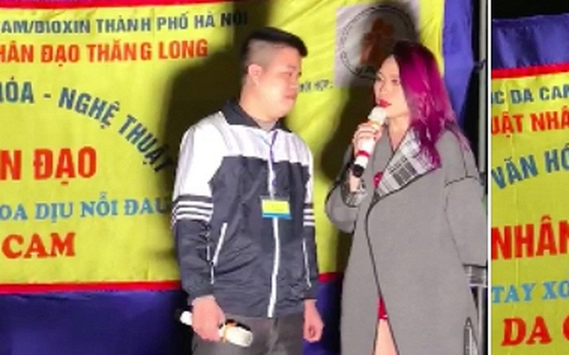 Mỹ Tâm bất ngờ xuất hiện trên sân khấu một đêm nhạc từ thiện tại hồ Hoàng Cầu tối 24/12 khi đang trên đường trở về khách sạn sau đêm diễn.