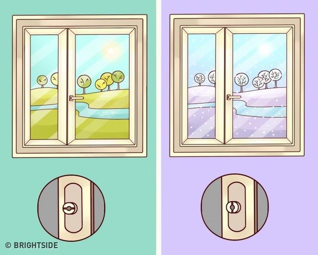 Bạn nên điều chỉnh cửa sổ tùy theo mùa để giữ được độ bền của cửa.