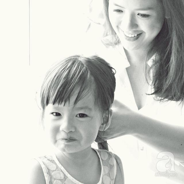 Bé Măng, con gái Anh Thi năm nay lên 4 tuổi.