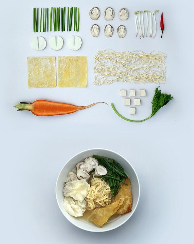 Một số món ăn chay Thi nấu: Bún riêu rúc rích.