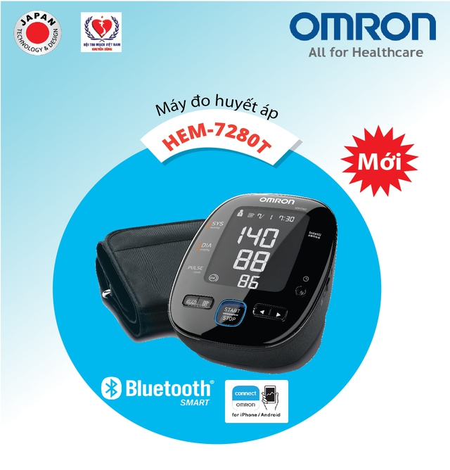 Máy đo huyết áp bắp tay cao cấp HEM-7280T với giá khoảng 2.9 triệu