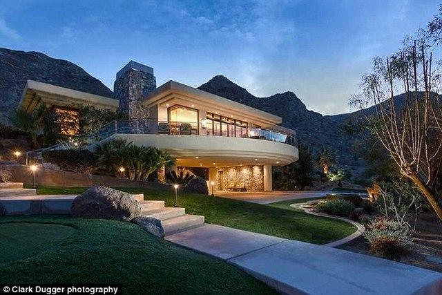 Căn nhà được đồn đoán thuộc sở hữu của Obama tại Rancho Mirage.