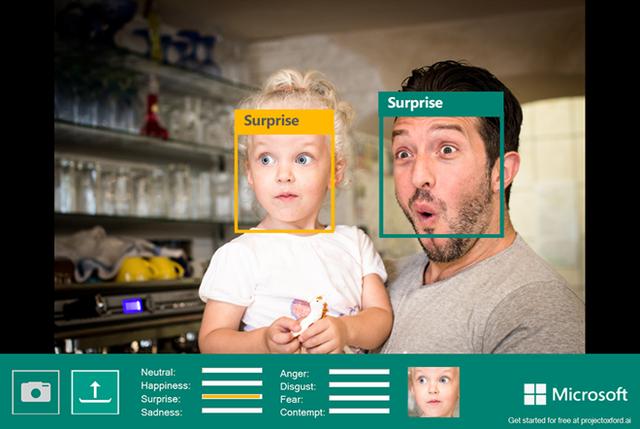 Dự án phân tích tâm trạng người trong ảnh của Microsoft.