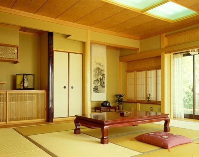 Không gian tiếp khách đặc trưng của người Nhật.