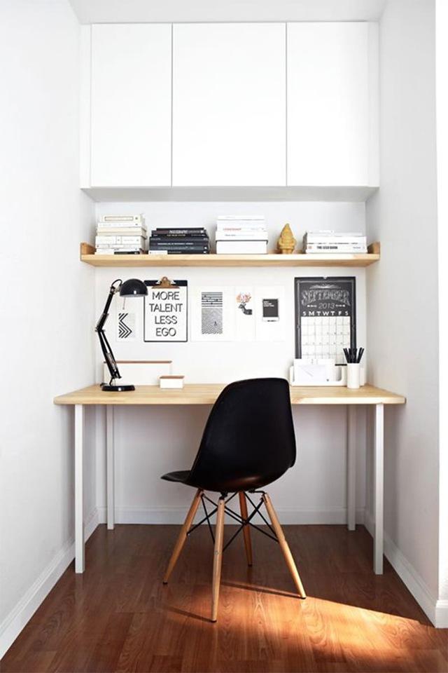 7. Một khoảng tường nhỏ vẫn có thể biến thành nơi làm việc hiệu quả.