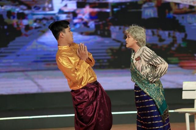 Tiểu phẩm Khẩu nghiệp chứa đựng bài học về luật nhân quả giúp Lê Như, học trò đội Hồng Vân nhận được tổng 36,1 điểm.